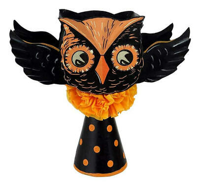 Bethany Lowe Vintage Style Flying Owl Tree Topper