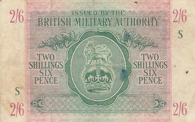 British Military Authority 2 shillings 6 pence 1943 P-M3 UK Britain England VF