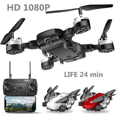 DRONE QUADRICOTTERO FPV CAMERA REAL TIME WiFi 1080P PORTATILE RICARICABILE