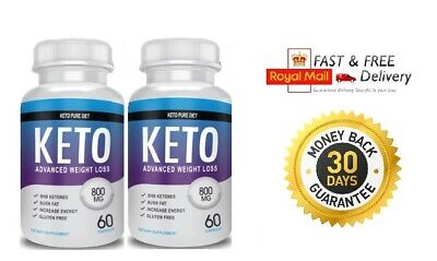 Keto Pure Diet Advanced Weight Loss - (2X60 Capsules)  Next Day Delivery