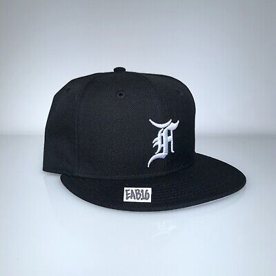 6bc9bf4ad73565 Fear Of God x New Era Essentials Fitted Hat Black and White FOG F.O.G Size 7