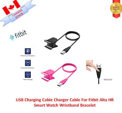 USB Charging Cable Charger Cable For Fitbit Alta HR Smart Watch Wristband Bracel