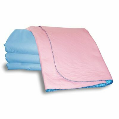 2 x Incontinence Washable Bed Pads With Tucks 86 x 91cm - Reusable (Twin pack)