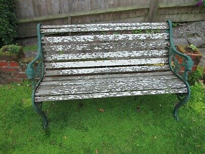 Marvelous Quality Cast Iron Garden Bench With Oak Slats 200 00 Ocoug Best Dining Table And Chair Ideas Images Ocougorg
