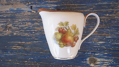 creamer GOLDEN CROWN Jaeger PMR E&R 1886 Bavaria Germany ORCHARD FARM fruit nuts