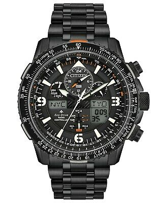 Citizen Men's Eco-Drive Skyhawk A-T Chronograph Stainless Steel Watch JY8075-51E
