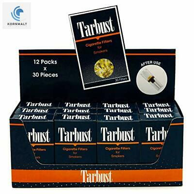 TarBust Disposable Cigarette Filters - 12 Packs Mini Display Box (12x30 Filters)