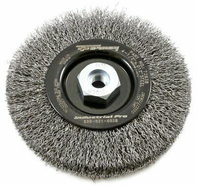 "Forney 72838 Crimped Wire Wheel Brush 4-1/2"" Diameter, Gauge .012"""