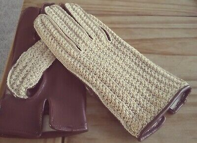 VINTAGE CEEGEE Empire Made Driving Gloves, Men's- Small, Ladies - Large