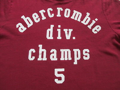 Abercrombie & Fitch Dark Red Kids Girls Boys T Shirt Size XL X-Large