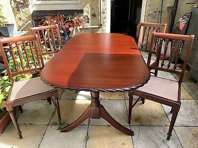 Mahogany Dining Table,Antique Style & 4 Chairs