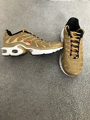 NIKE AIR MAX Plus TN Metallic Gold Bullet Size 6 £34.99