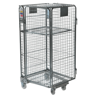 Full Security Warehouse Roll Cage Container Trolley - Mesh Infill - 1690mm High.
