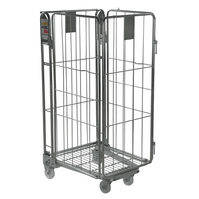 Four Sided Warehouse Roll Cage Container Trolley - Rod Infill - 1690mm High