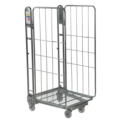 Two Sided Warehouse Roll Cage Container Trolley - Rod Infill - 1690mm High