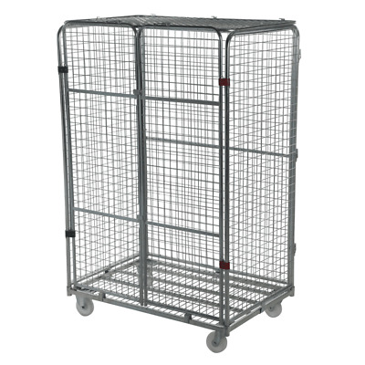 Large Security Demountable Warehouse Roll Cage Container Trolley - 1870mm High