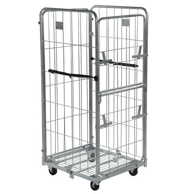 Four Sided Demountable Warehouse Roll Cage Container - Half Gate - 1815mm High
