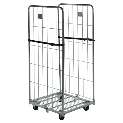 Two sided Demountable Warehouse Roll Cage Container - Half Gate - 1815mm High