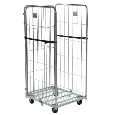 Three Sided Demountable Warehouse Roll Cage Container Trolley - 1690mm High