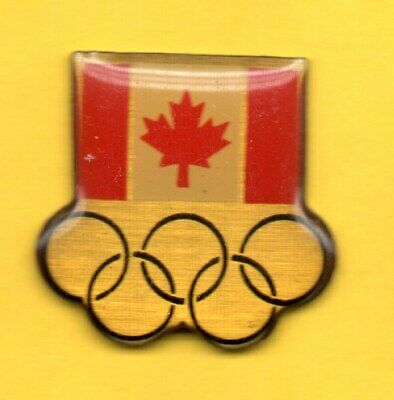 Pin's Pins Hat Lapel JEUX OLYMPIQUE Olympic games FLAG DRAPEAU RINGS CANADA JO