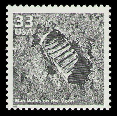 Apollo 11 Eagle Lunar Module Moon Step Neil Armstrong Aldrin NASA Mint Stamp
