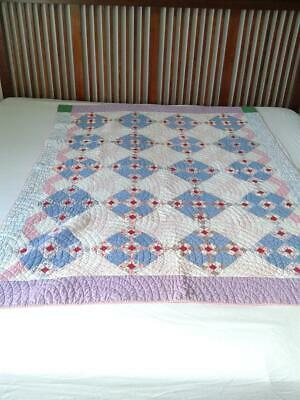 Very Nice!!!  Vintage handmade stiched LOT of 4 QUILTS - over 60 years old!