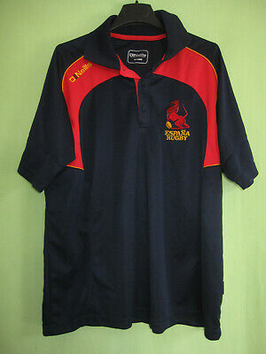 Polo Rugby Espagne Jersey Vintage Espana Maillot Marine et rouge - M