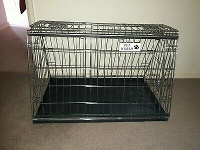PET WORLD ESTATE /& 4x4 SPACE SAVER SLOPING CAR DOG CAGE BOOT TRAVEL CRATE PUPPY