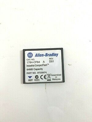 Allen Bradley 1784-Cf64 A Rev D01 Industrial Compact Flash Card 64Mb