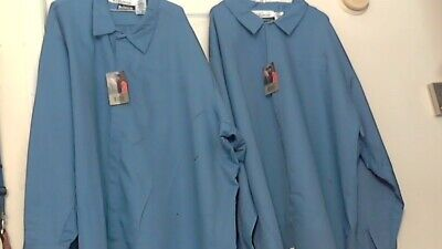 Bulwark Flame-Resistant Safety Work Shirts ( 6XL-Rg ) Blue   lot of 5 Pre-Owned
