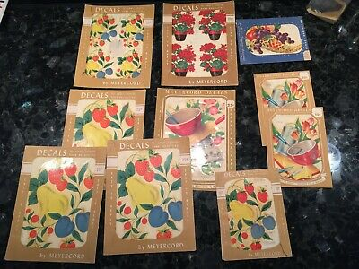 Meyercord Decals Kitchen Pear Strawberries Plums Fruit Decoration Vintage