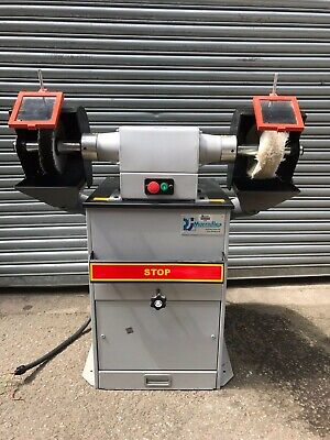RJH Chamois Creusen Twin Polishing Machine with Built In Extractor 3 Phase