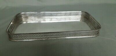 A Beautiful Vintage Silver Plated Gallery Tray With Mirror Effect.very elegant