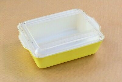 Plat jaune PYREX vintage yellow oven plate