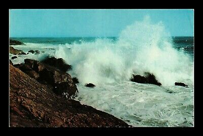 Dr Jim Stamps Us Breaking Ocean Surf Chrome View Postcard
