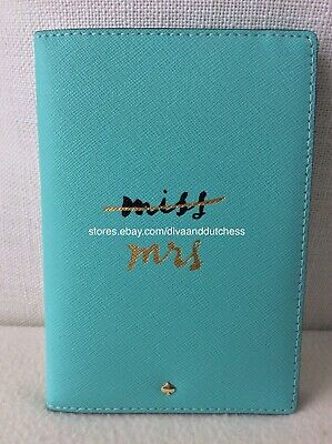 Kate Spade Wedding Belles Leather Travel Passport Holder with Dust Bag, NWT