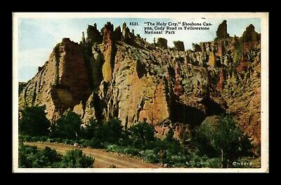 Dr Jim Stamps Us Holy City Shoshone Canyon Cody Road Postcard