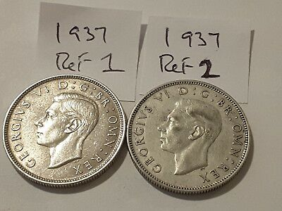 1937 King George VI Silver Florin / Two Shilling coins - pick your coin