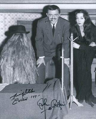 The Addams Family Tv Cast - Autographed Signed Photograph With Co-Signers