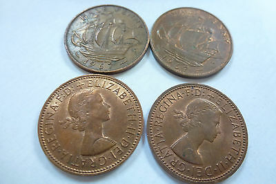 Elizabeth II Half Penny coins - choose your year -1953 to 1967 (free post)