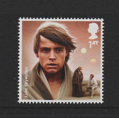 Luke Skywalker/Star Wars/Films Tv/Gb 2015 Um Mint Stamp