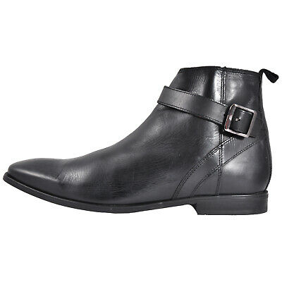 Base London Albert Men's Leather Chelsea Ankle Boots Black (Sample) UK 8 Only