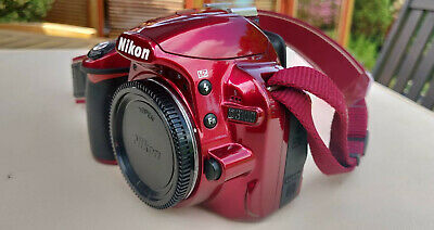 Red Nikon D3100 14.2 MP Digital SLR Camera - (Body only) with Battery & Charger