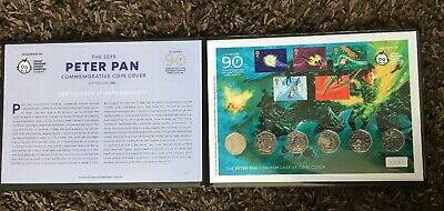 In Hand Set Of 6 2019 Isle of Man Peter Pan 50p 6 Coin Set Coin Cover COA 123