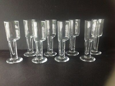 2 Vtg SETS of 4 Murano Glasses Etched Signed Carlo Moretti SETS SOLD SEPARATELY