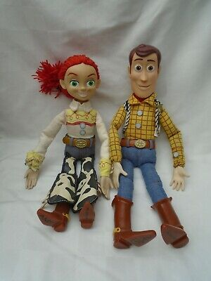 Toy Story Woody & Jessie Talking Pull string figures dolls Original 16 inches