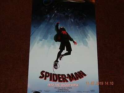 "Spider-Man Into The Spider-Verse Marvel 2018 Movie Theater Poster 17"" X 11"" New"