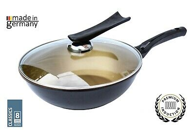 Professional Cast Aluminium Wok Pan With Lid and Handle 30cm For All Heat source