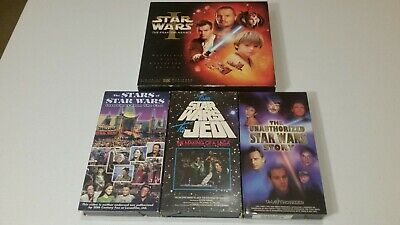 Lot Of 4 Star Wars VHS Episode 1 Collector's Stars Making Of A Saga Unauthorized