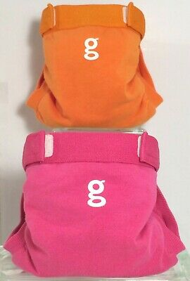 Gdiapers Smalls Goddess Pink, Great Orange Gpants & Pouches Euc